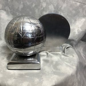Other - Silver globe book ends